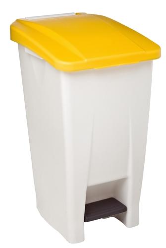 kitchen bin rossignol 60 liter yellow lid haccp