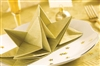 Paper napkin folding precreased Gold Christmas and New Years Eve cover 12