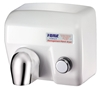 Antivandal hand dryer 2400W white steel porcelained push button operating