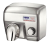 Satin stainless steel electric hand dryer vandal 2400 W manual