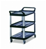 Trolley Rubbermaid X TRA open service Black