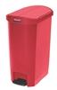 Garbage Rubbermaid Slim Jim 50L narrow red