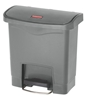 Garbage Rubbermaid Slim Jim 15L gray