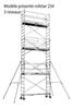 Scaffolding steel rolling Duarib ROLLSTAR 254 H 8.2 m