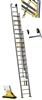 Extension ladder Centaure 3 sections with rope 10,55 m