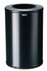 Fireproof black trash bin 90 liters