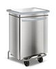 Stainless kitchen trash HACCP faired 70 liters