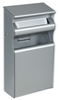 Ashtray trash metal gray Rossignol 15L