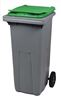 Waste container 2 wheels 240 L front stacker green