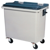 4 wheel waste container 660 Litres Grey CV front socket