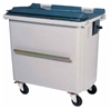4 wheels rolling container lid 660 liters gray bar ventral