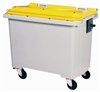 Waste container 770 liters 4 CV front wheel yellow jack