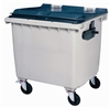 4 wheel waste containers 1000 Liters gray front socket