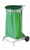 Kitchen trash collecroule HACCP green lid 110 liters