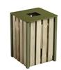 Outdoor trash timber 50L olive green Rossignol