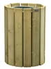 Outdoor trash timber Rossignol 20 L round wall