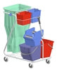 Household cleaning trolley cart Z Rilsan product is