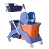 Household washing trolley with press jaw 2x25 L