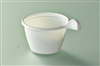 White disposable coffee cup 10 cl package 1200