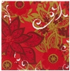Fleece poinsettia napkin 40 x 40 cm package 288 towels