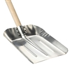 Aluminum snow shovel with wooden handle