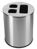 Recyclable waste collector 40L brushed stainless JVD