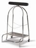 Kitchen trash bag holder 304 pedal steel 110L