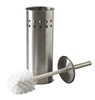 Toilet brush brushed stainless steel with medium to ask