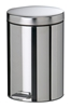 5-liter pedal trash can, stainless steel