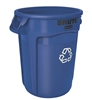 Rubbermaid Brute 121 liter round container, Blue