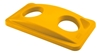 Yellow lid Rubbermaid Slim Jim