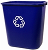 Rubbermaid trash selective sorting 26.6 Litres Blue