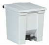 Rubbermaid 30.3 liter pedal trash can, White