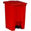 Rubbermaid trash pedal red 45.4 liters