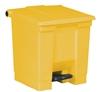 Rubbermaid trash pedal 45.4 liters yellow