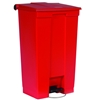 Rubbermaid trash pedal 87 liters red