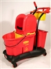 Cleaning material WAVEBRAKE Rubbermaid red with press