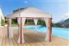 Exotic wood garden arbor hexagonal Riviera 4.5