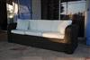 3 seater sofa resin braided Mikonos round wire prestige