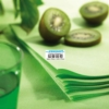 Round tablecloth disposable nonwoven green anise D240 12 pack