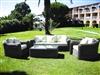 Garden resin round wire braided Mikonos prestige 5 seats