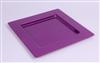 Disposable plate in purple carree prestige package 72
