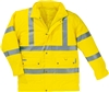 Fluorescent high visibility parka Panoply Srada polyester PU coated yellow