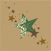 Dunilin Christmas napkin green 40x40