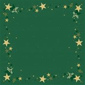 Dunicel tablecloth green noel 84x84 pack of 20