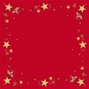 Dunicel red tablecloth 84x84 pack of 5