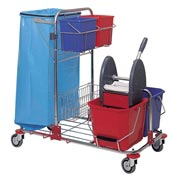 Household cleaning trolley stainless
