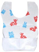 Disposable baby bib children PE 22x30 cm package 400