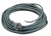 MAINS CABLE METER X 10 X 1MM 2 CORE (H05 V2V2-F) EURO PLUG ==> (2x1mm long cable. 10m without plug)