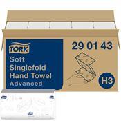 Towel hands Tork advanced white Ecolabel folding V parcel of 3750